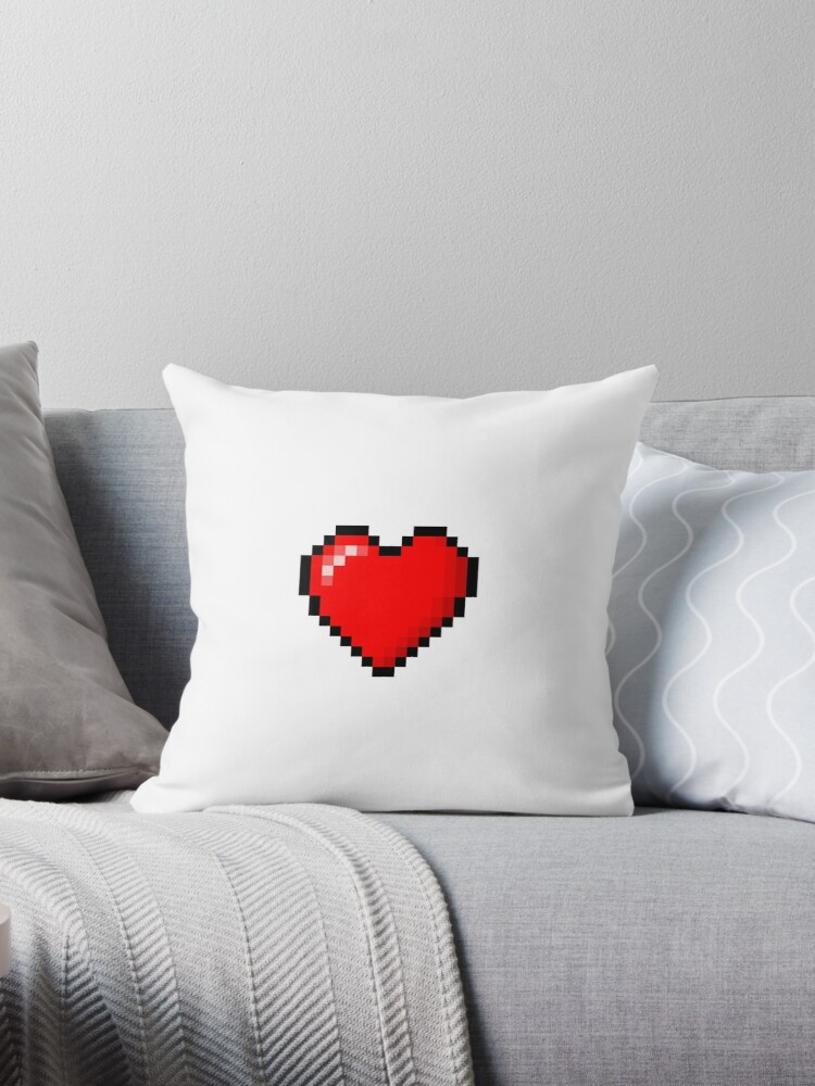 Miraculous 8Bit Heart Stuff Throw Pillow By Kiwikieron Pdpeps Interior Chair Design Pdpepsorg