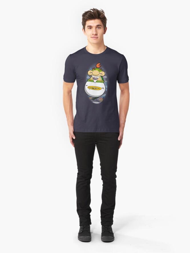Alternate view of Joyriding dad's clown car Slim Fit T-Shirt