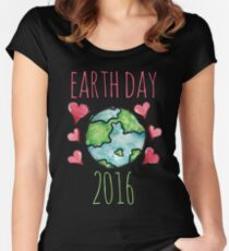 Earth Day 2016 Women's Fitted Scoop T-Shirt