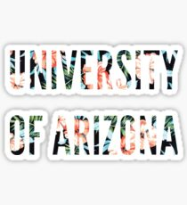 Floral University of Arizona Sticker