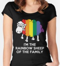 I'm The Rainbow Sheep Of The Family T-Shirt Women's Fitted Scoop T-Shirt