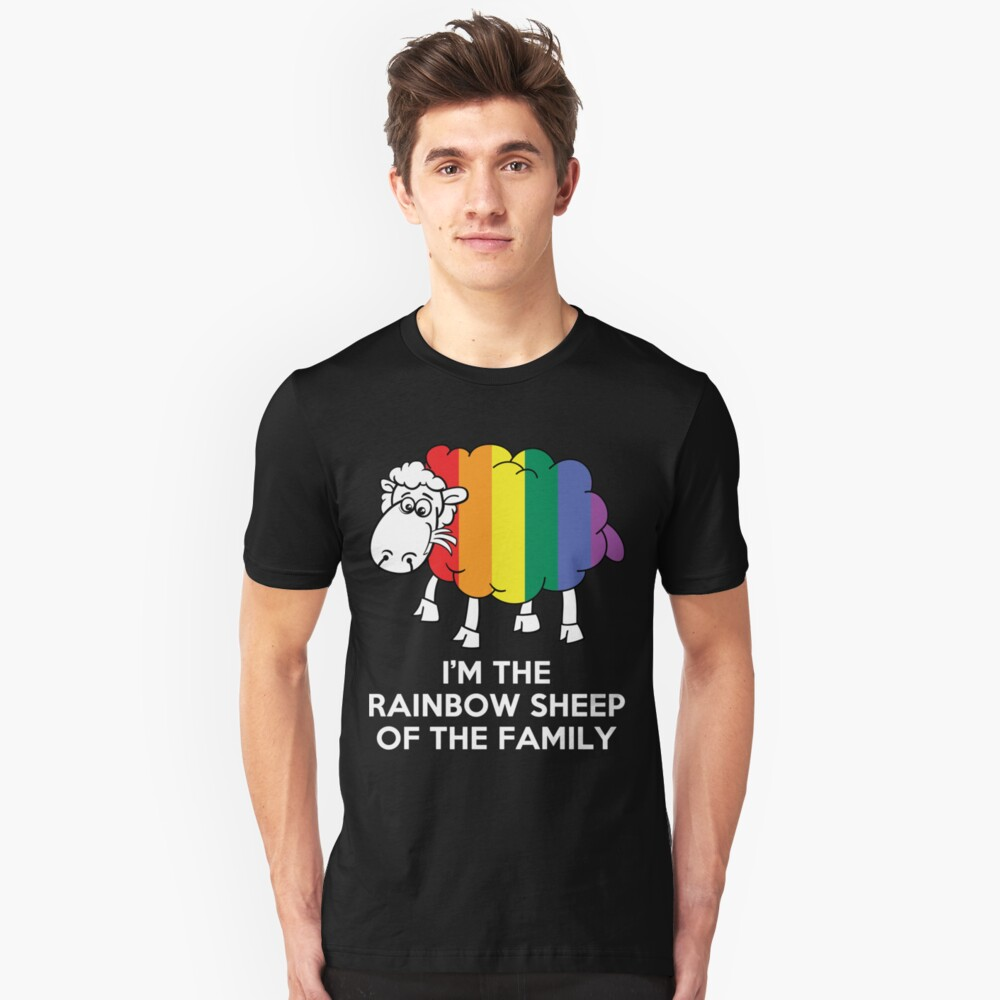 I'm The Rainbow Sheep Of The Family T-Shirt Unisex T-Shirt Front