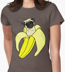 banana pug Womens Fitted T-Shirt