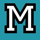 Letter M two-color von theshirtshops