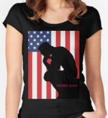 Trump The Thinker Women's Fitted Scoop T-Shirt