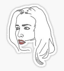 Gillian Anderson Sketch Sticker