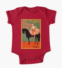 The circus girl, black horse, vintage antique advertisement Kids Clothes