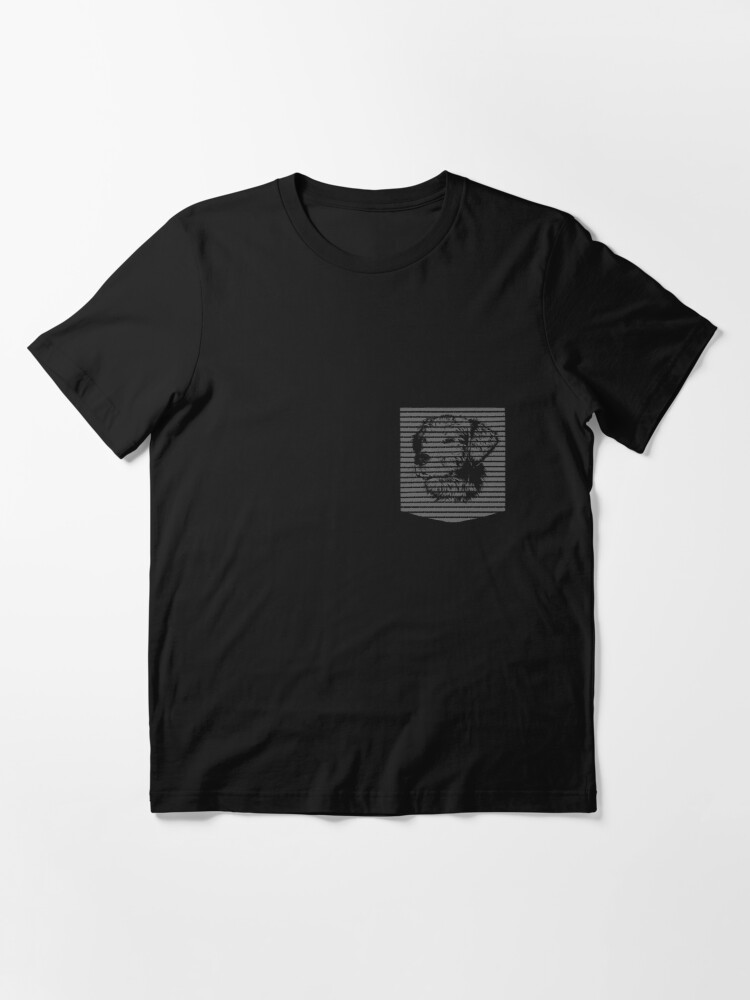 Alternate view of Puppy in pocket Graphics Dog on Pocket Abstract cool Doggie outside Pocket Essential T-Shirt
