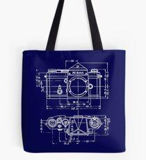 Vintage Photography: Nikon Blueprint Tote Bag