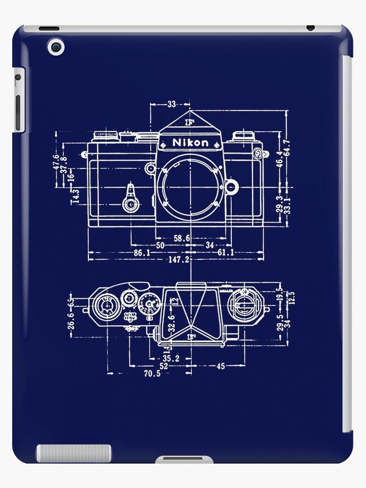 Vintage photography nikon blueprint ipad cases skins by vintage photography nikon blueprint by brainsontoast malvernweather Images