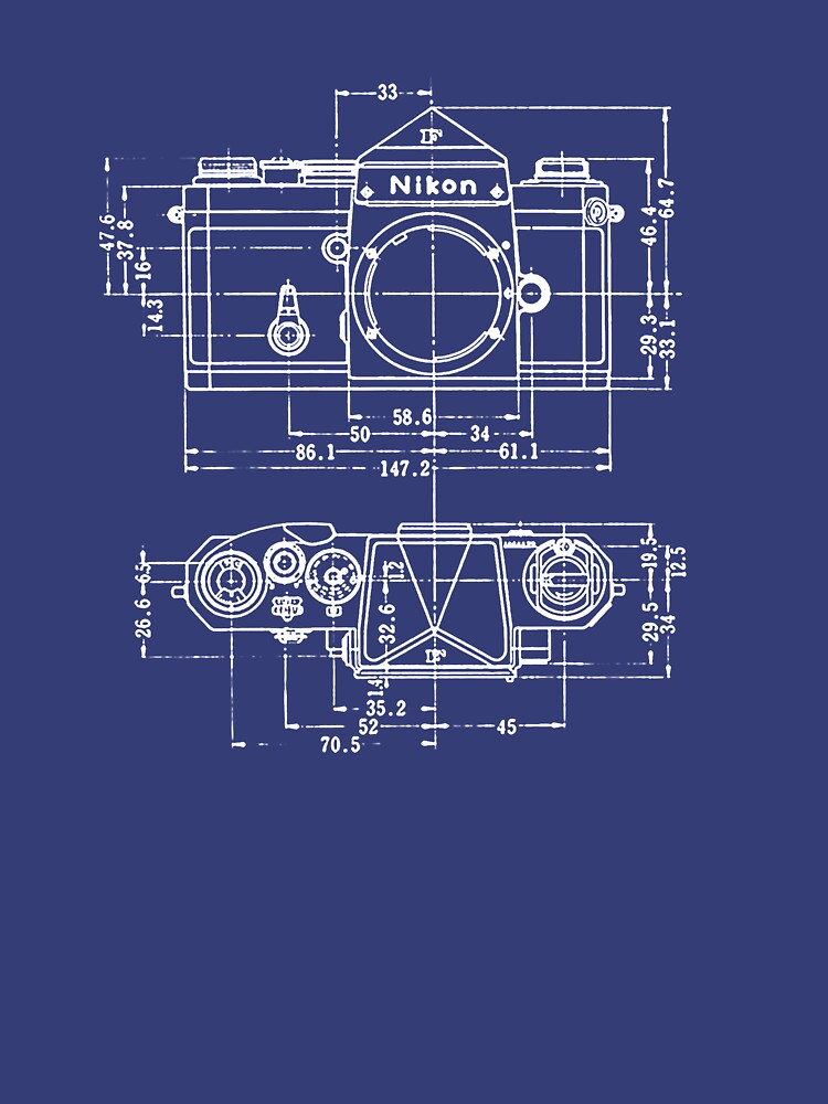 Vintage Photography: Nikon Blueprint | Unisex T-Shirt
