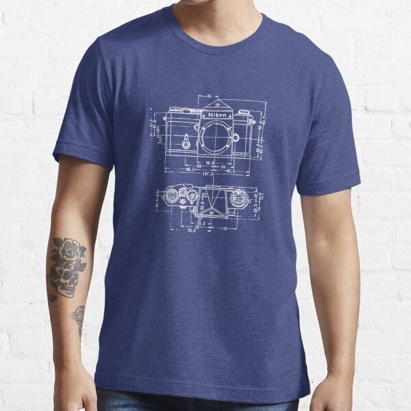 Vintage Photography: Nikon Blueprint Essential T-Shirt