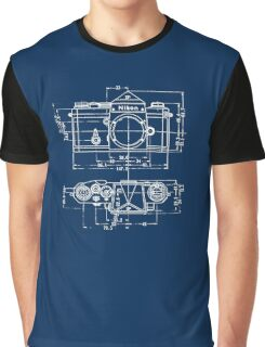 Vintage Photography: Nikon Blueprint Graphic T-Shirt