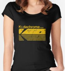 Vintage Photography: Kodak Kodachrome - Yellow Women's Fitted Scoop T-Shirt