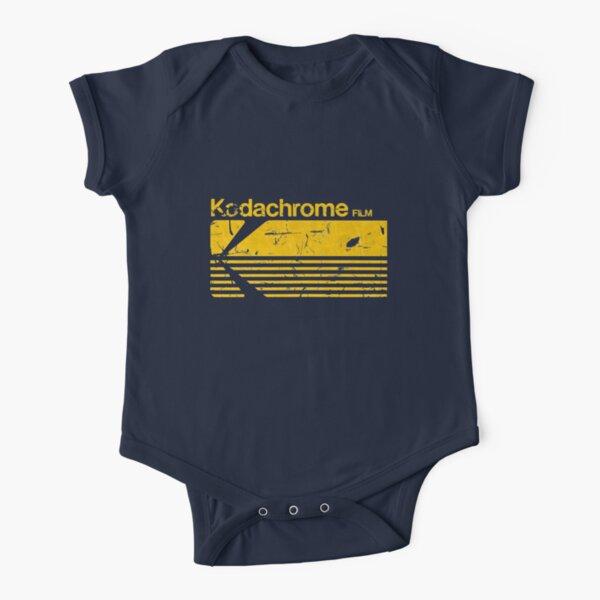 Vintage Photography: Kodak Kodachrome - Yellow Short Sleeve Baby One-Piece