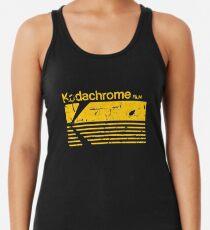 Vintage Photography: Kodak Kodachrome - Yellow Racerback Tank Top