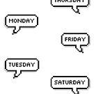 Planer Aufkleber - Speech Bubble Days von gracieallen95