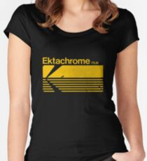 Vintage Photography: Kodak Ektachrome - Yellow Women's Fitted Scoop T-Shirt