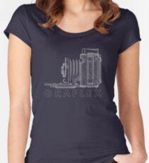 Vintage Photography - Graflex Blueprint (Version 2) Women's Fitted Scoop T-Shirt