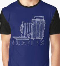 Vintage Photography - Graflex Blueprint (Version 2) Graphic T-Shirt