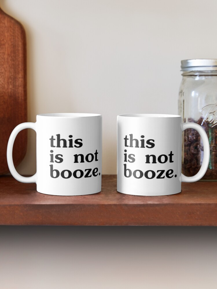 Alternate view of This is NOT booze - conference call mug Mug