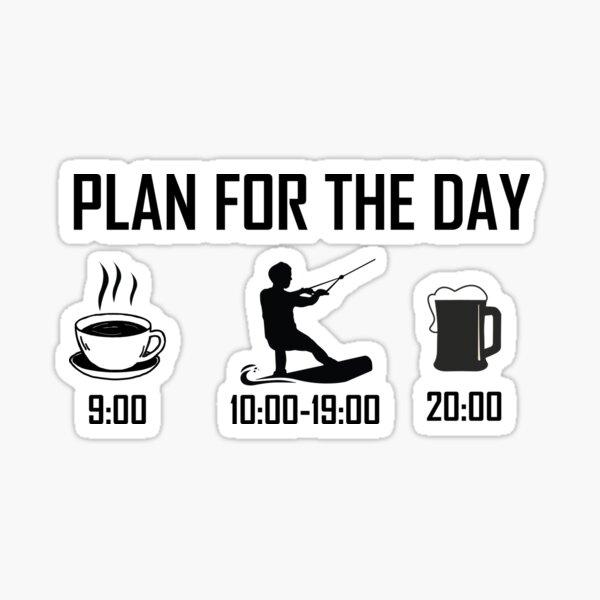 Plan du jour pour le wakeboard Sticker