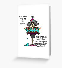 Old lady humor greeting cards redbubble elderly lady birthday candles humor greeting card m4hsunfo