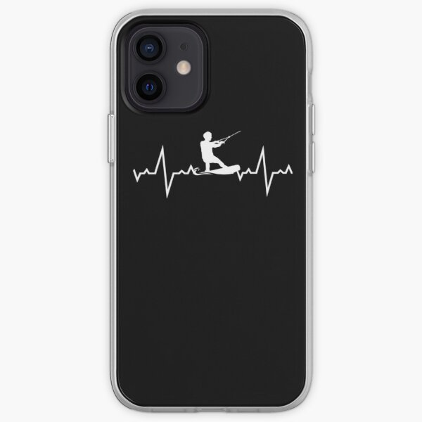 Wakeboarding Heart Beats iPhone Soft Case