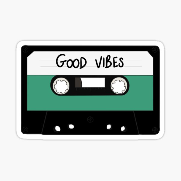 HIPSTER :: GOOD VIBES MUSIC Sticker