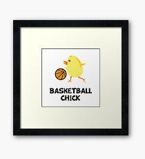 Basketball Chick Framed Print