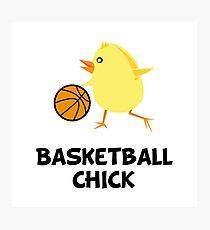 Basketball Chick Photographic Print
