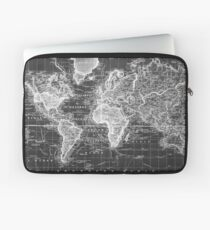 Vintage Map of The World (1833) White & Black Laptop Sleeve
