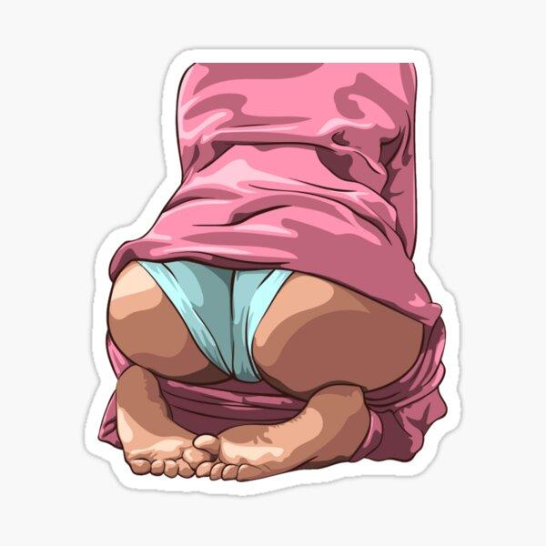 18 Sex Stickers Jolie fille sexy avec un gros butin Sticker