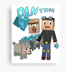 DanTDM The Diamond Minecart - Minecraft Youtuber Metal Print