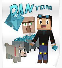 DanTDM Der Diamant Minecart - Minecraft Youtuber Poster