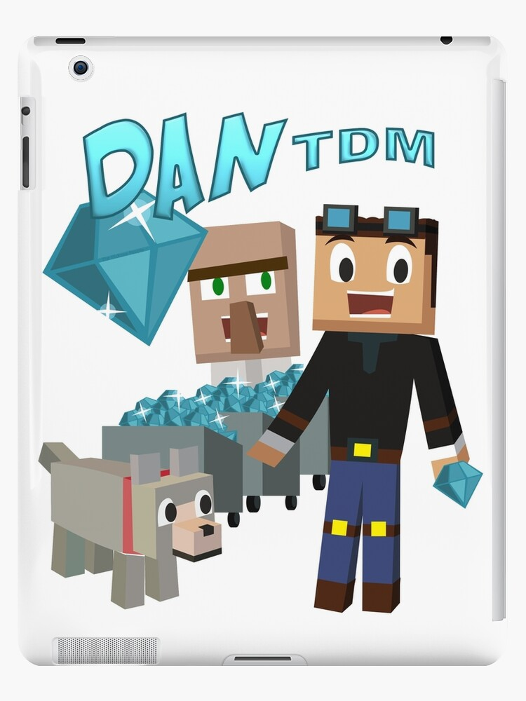 dantdm the diamond minecart minecraft youtuber ipad cases skins