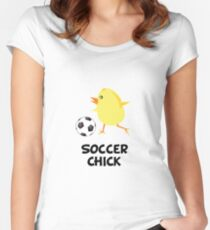 Soccer Chick Women's Fitted Scoop T-Shirt