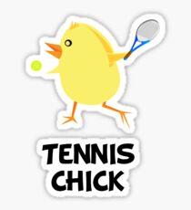 Tennis Chick Sticker