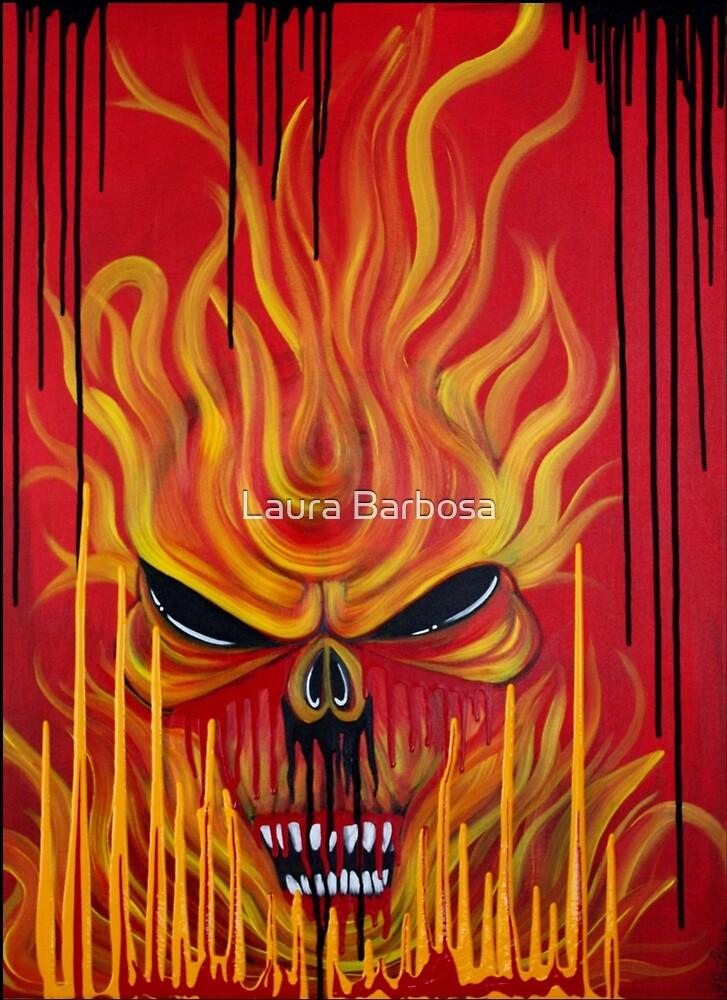 Schädel Feuer von Laura Barbosa
