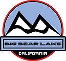 BIG BEAR LAKE CALIFORNIA Mountain Skiing Art by MyHandmadeSigns