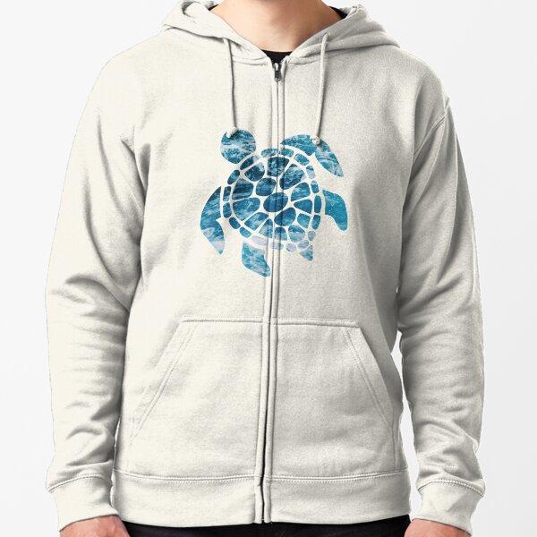 Ocean Sea Turtle Zipped Hoodie