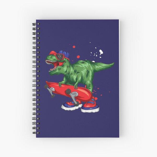 Dino Skateboarding Spiral Notebook