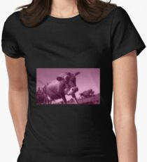 Mooving On  Womens Fitted T-Shirt
