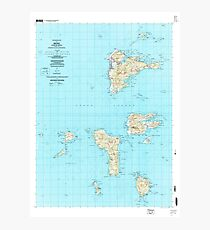 USGS TOPO Map Federated States of Micronesia FM Weno 462326 1997 25000 Photographic Print