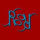"""Roger"" Ambigram (reversible image) by flatfrog00"