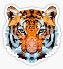 Low-poly Geometric Tiger Sticker
