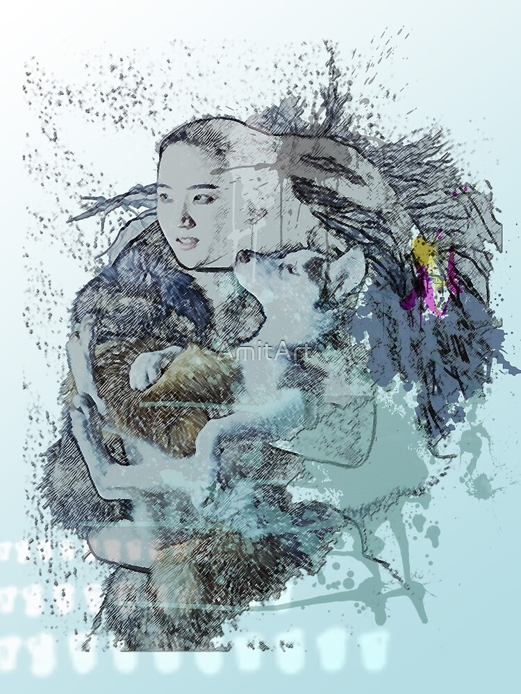 wolf love by AmitArt