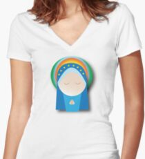 Hail mary Women's Fitted V-Neck T-Shirt