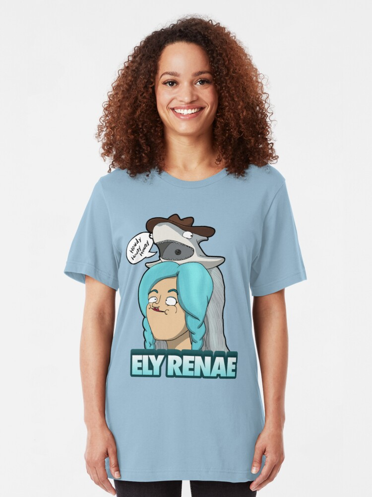 Alternate view of Howdy! It's Ely Renae! Slim Fit T-Shirt