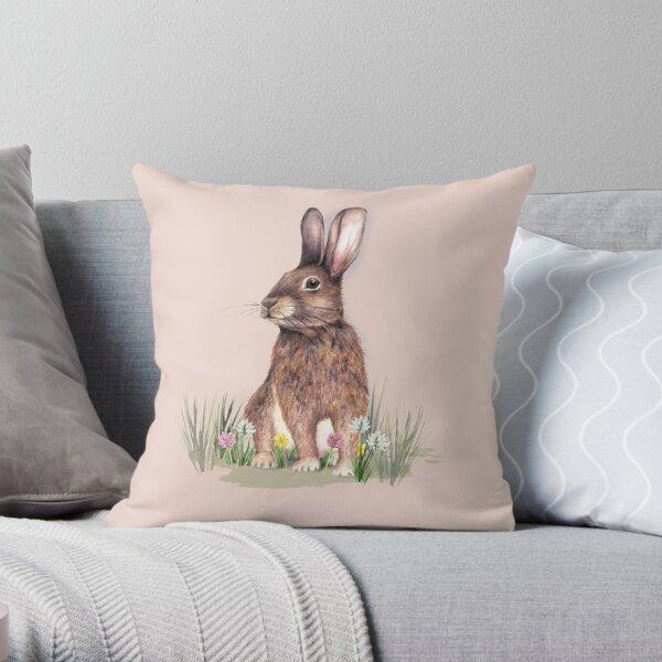 I love Rabbits Throw Pillow